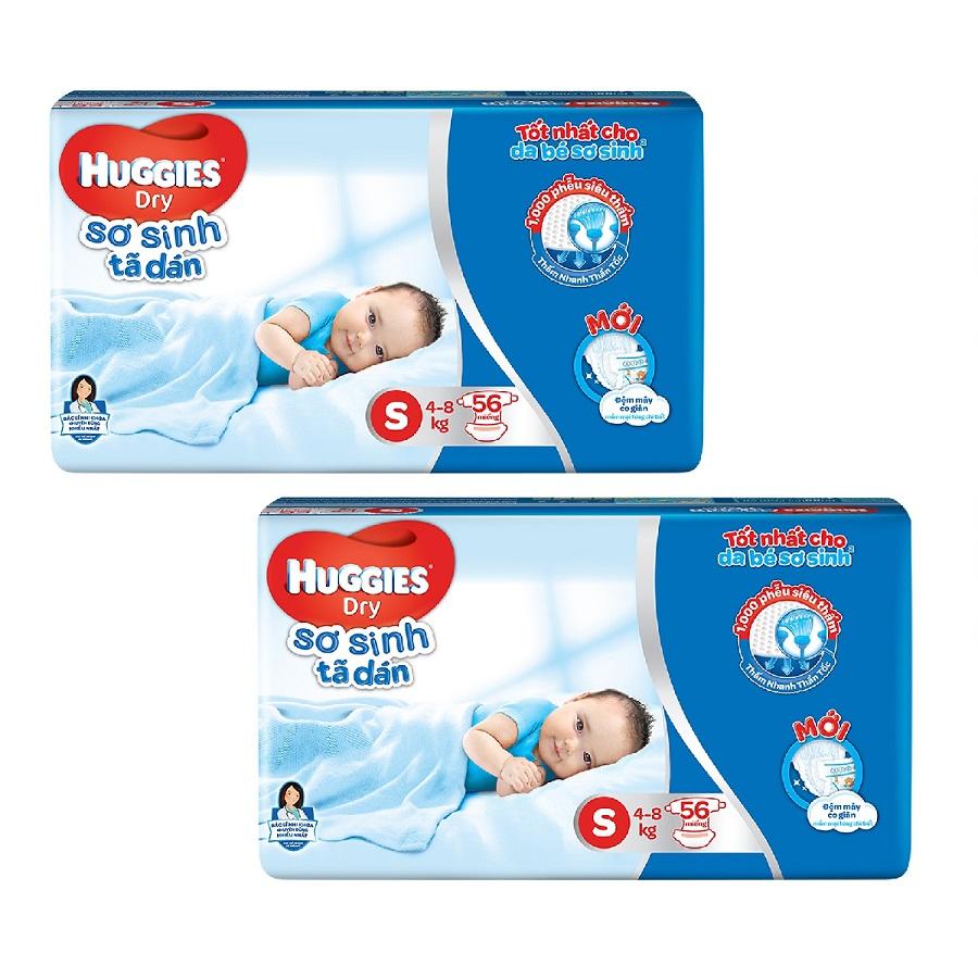 2 Gói Tã Dán Sơ Sinh Huggies Dry Newborn S56 (56 Miếng) - 9597198 , 2526824682119 , 62_17522718 , 420000 , 2-Goi-Ta-Dan-So-Sinh-Huggies-Dry-Newborn-S56-56-Mieng-62_17522718 , tiki.vn , 2 Gói Tã Dán Sơ Sinh Huggies Dry Newborn S56 (56 Miếng)