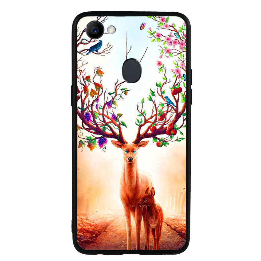 Ốp Lưng Viền TPU cho điện thoại Oppo F7 -Deer 01
