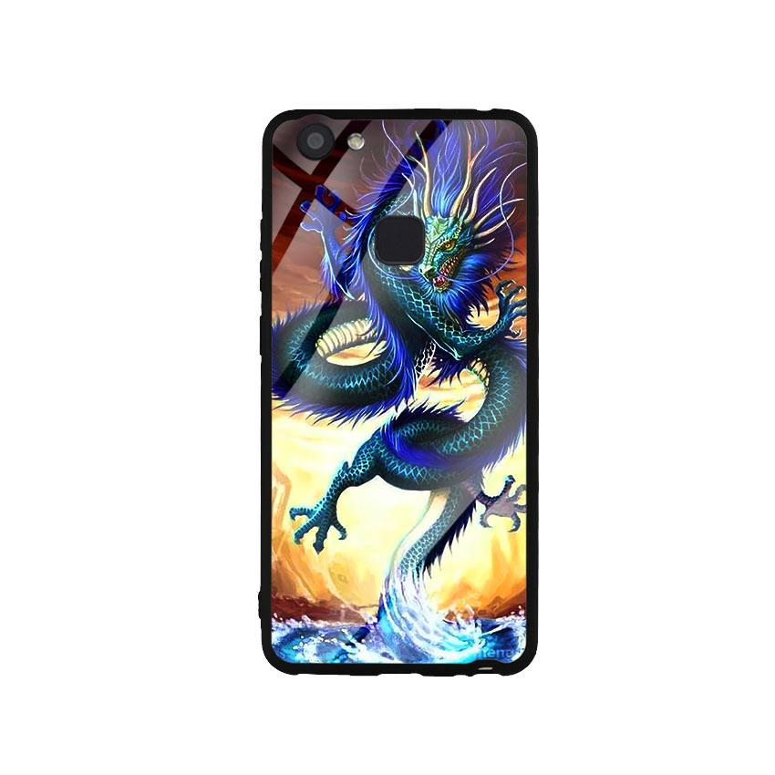 Ốp Lưng Kính Cường Lực cho điện thoại Vivo V7 Plus - Dragon 08