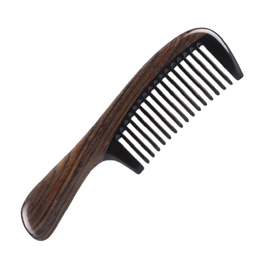 【Jingdong Supermarket】 Carpenter Technology (Mr.Green) M-7207 Coral wood combs combs natural Shen Guibao black water cow horns comb combs