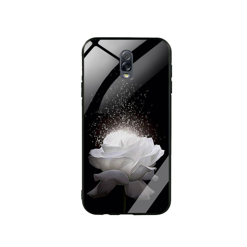 Ốp Lưng Kính Cường Lực cho điện thoại Samsung Galaxy J7 Plus -  0324 ROSE03