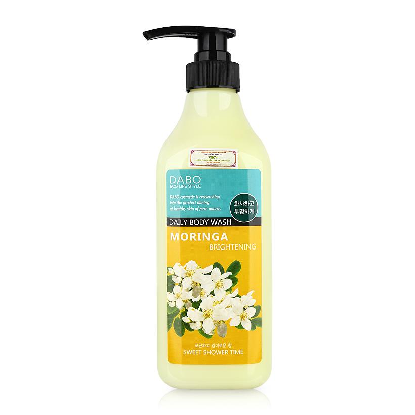 Sữa tắm trắng da sạch nhờn hương thơm mát dịu hương hoa chùm ngây Dabo Moringa Hàn quốc ( 750ml)