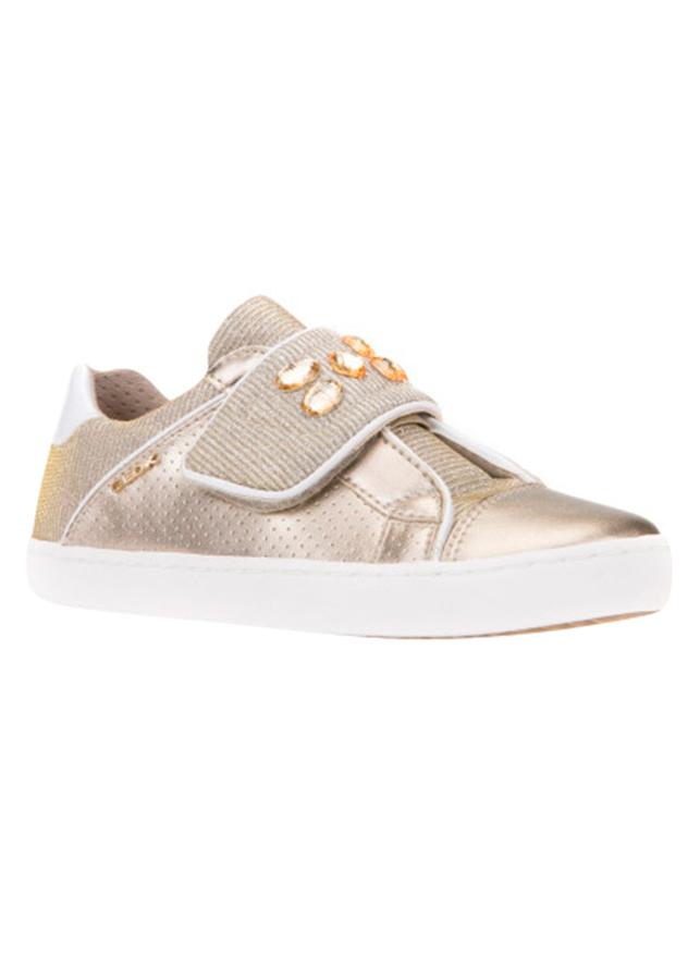 Giày Sneakers Nữ GEOX J KILWI G. G PRL.SY+GLI.TEXT GOLD - Vàng
