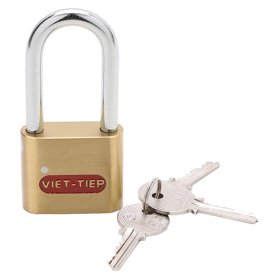 Ổ Khoá Việt Tiệp Cầu Dài Hoa Văn 101 x 48 Ống Phi 8mm