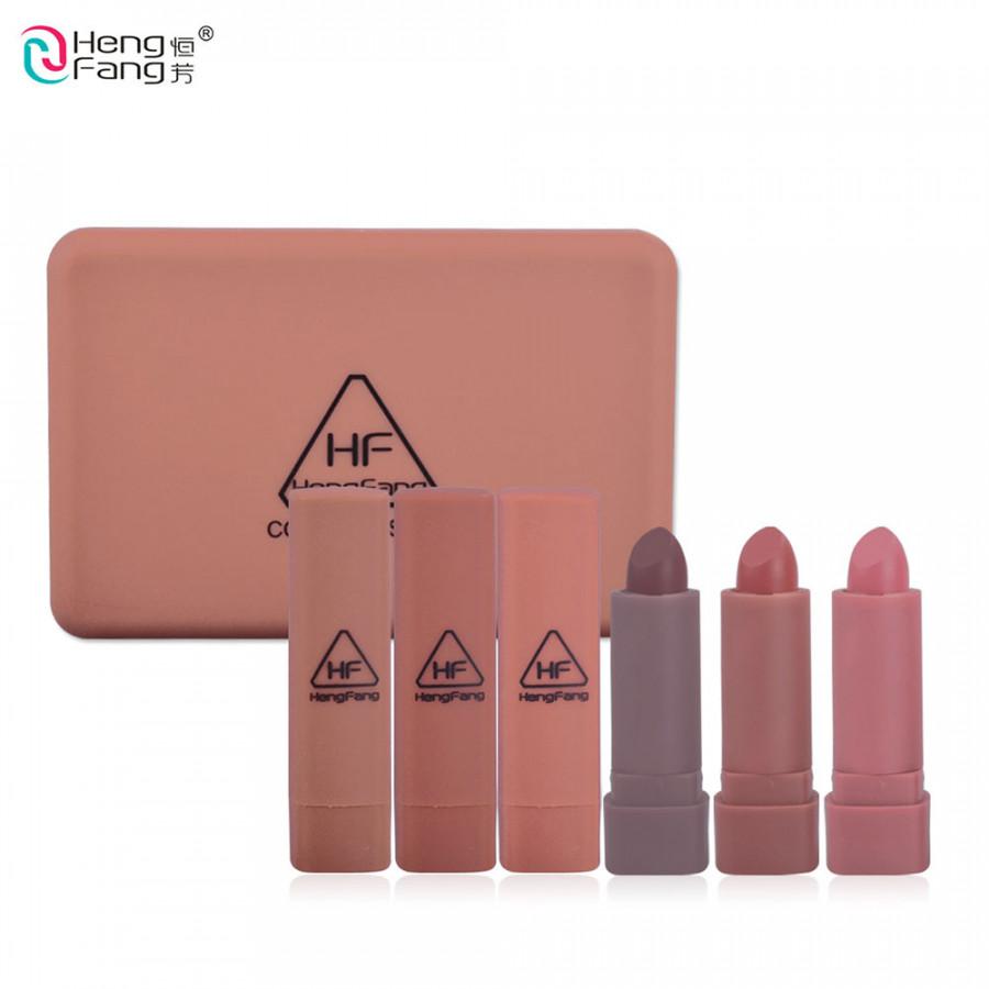 Lipstick Lip Cram Stick Sexy Set 6pcs/Box Lip Gloss Make Up Tool