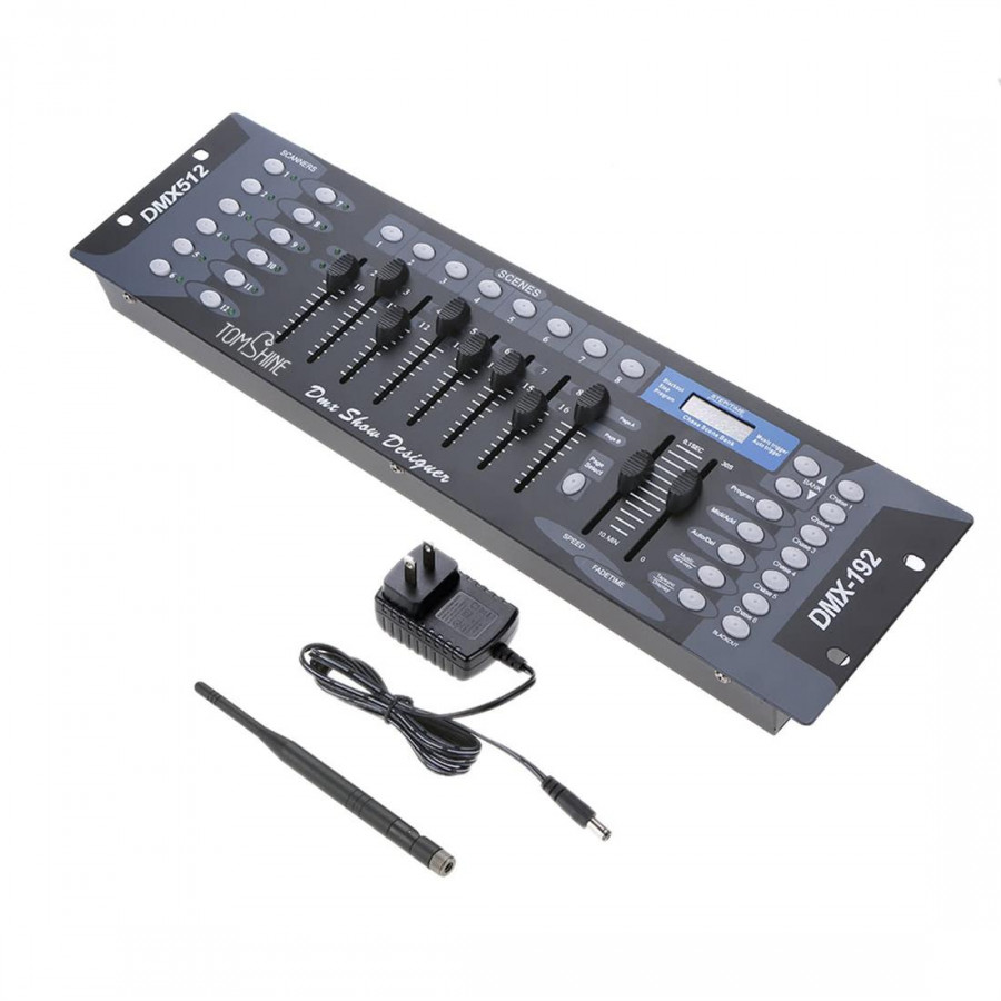 Use Wireless Controller And Transmitter Party Dj Dco Operator Equipment To Illuminate  192 Channel Stage Light Dmx512 Wireless Controller Console
