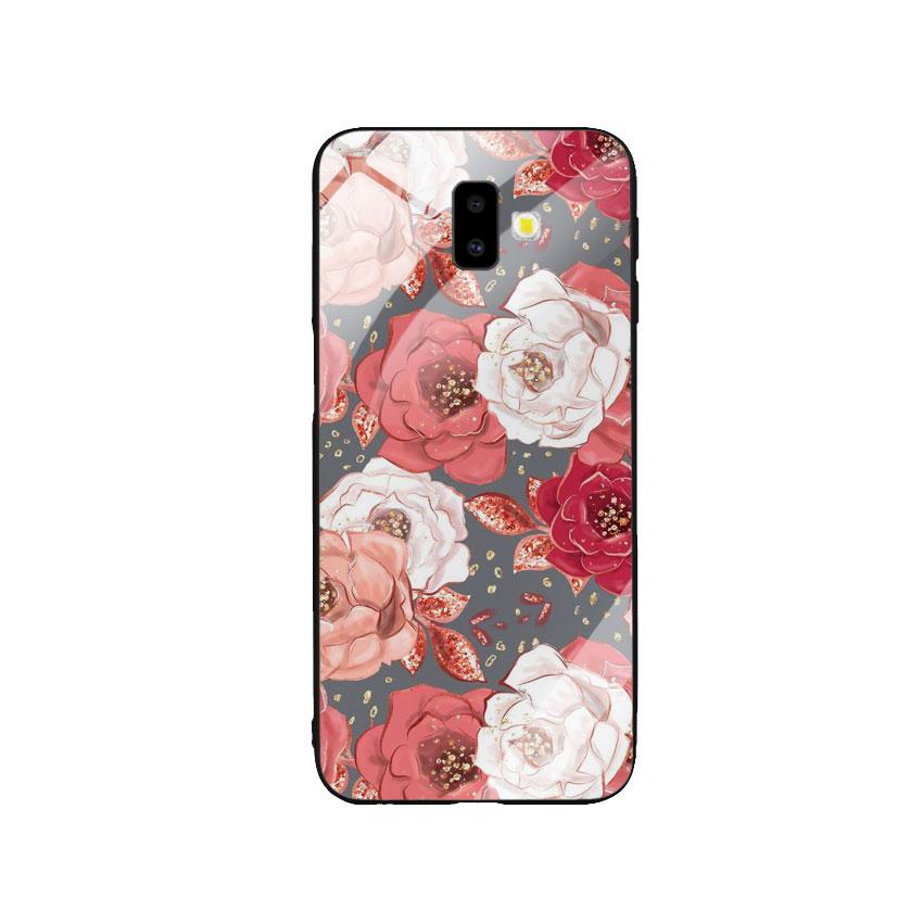 Ốp Lưng Kính Cường Lực cho điện thoại Samsung Galaxy J6 Plus -  0331 ROSE04