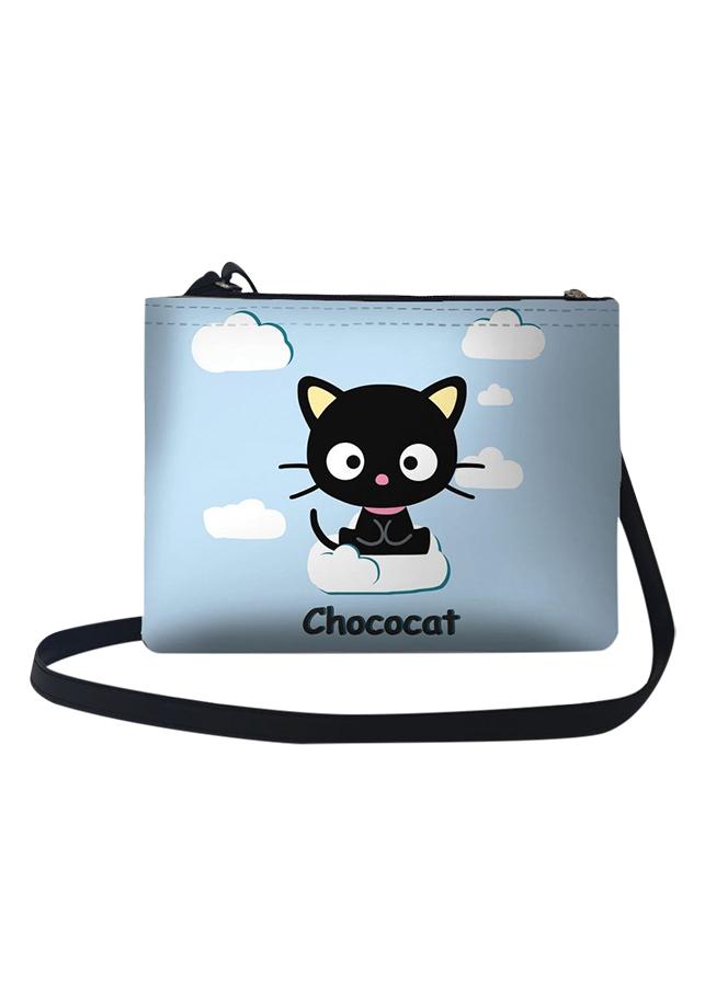 Túi Đeo Chéo Nữ In Hình Mèo Chococat Ngồi Trên Mây - TUCT092 (24 x 17 cm)