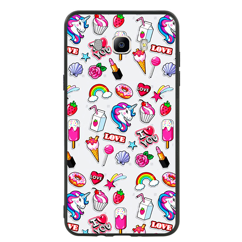 Ốp lưng nhựa cứng viền dẻo TPU cho điện thoại Samsung Galaxy J7 2016 -Sweet 02