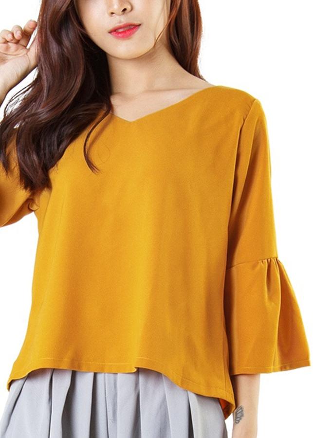 Áo Kiểu Nữ Tay Bồng Siskin 79890426 - Vàng