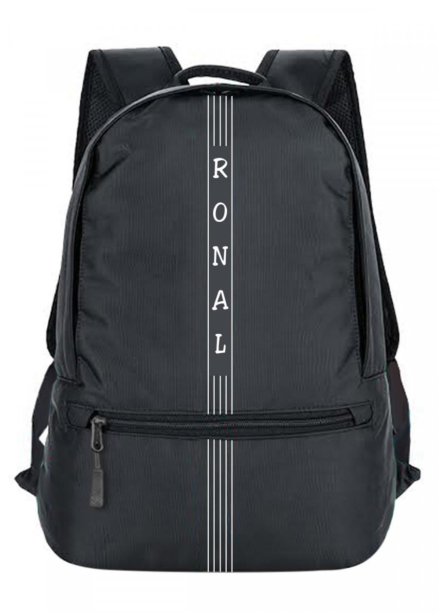 Ba lô Ronal BL85 - Đen logo trắng