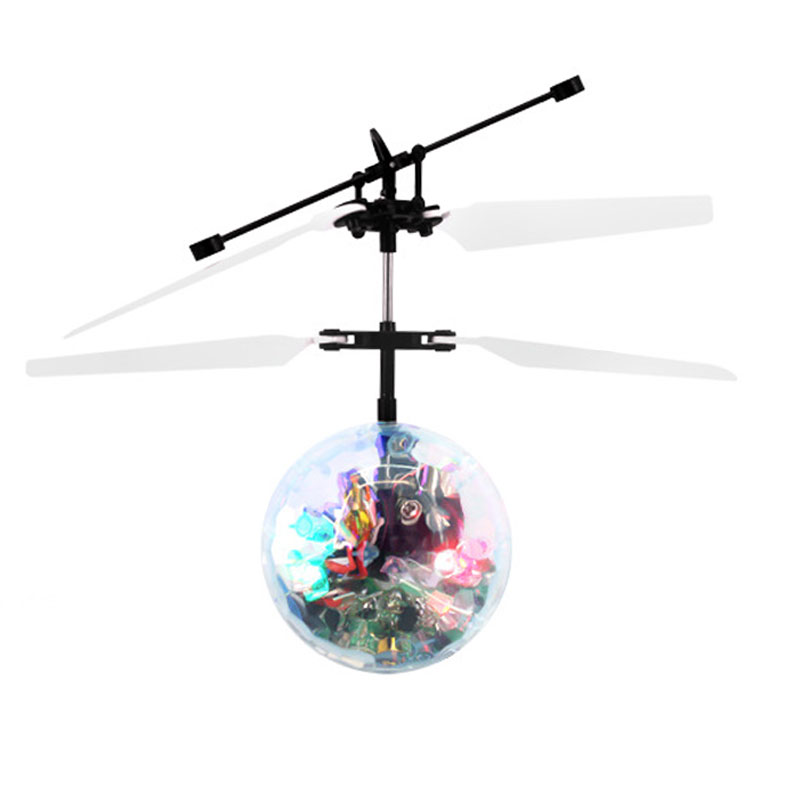 Drone Helicopter Flying Ball LED Lighting Aircraft Infrared Induction Toys Kids