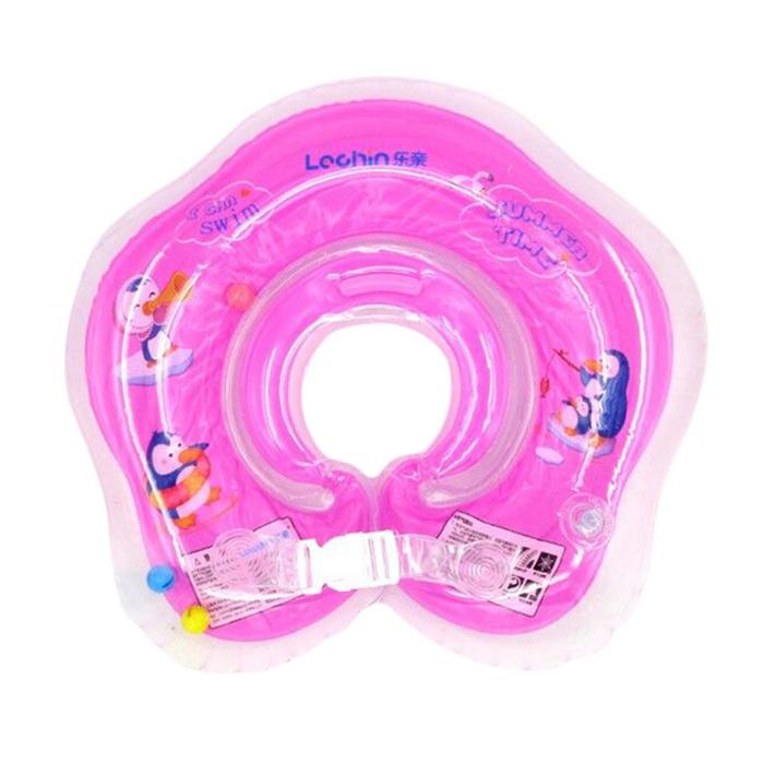 Phao bơi đỡ cổ chống lật cho bé tập bơi - màu hồng
