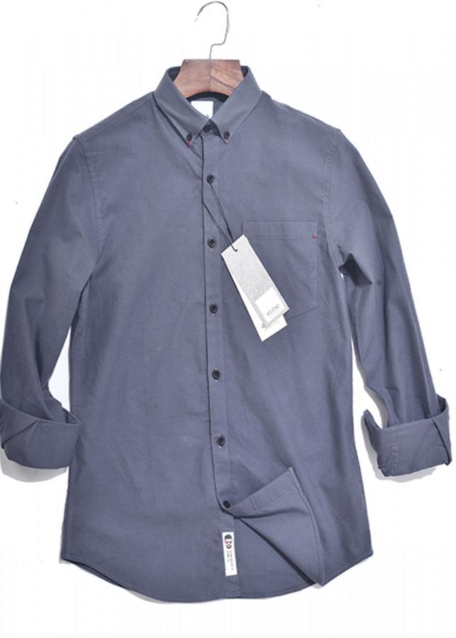Áo sơ mi nam màu ghi Oxford dài tay cổ bẻ có túi hàng xuất khẩu - Routine - 9652903 , 6574699463704 , 62_16339489 , 450000 , Ao-so-mi-nam-mau-ghi-Oxford-dai-tay-co-be-co-tui-hang-xuat-khau-Routine-62_16339489 , tiki.vn , Áo sơ mi nam màu ghi Oxford dài tay cổ bẻ có túi hàng xuất khẩu - Routine