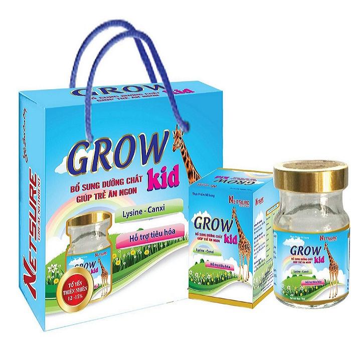 Yến Lốc Cao Cấp Netsure dành cho trẻ em Grow Kid (12% Yến, 70ml/lọ, 6 lọ/lốc)