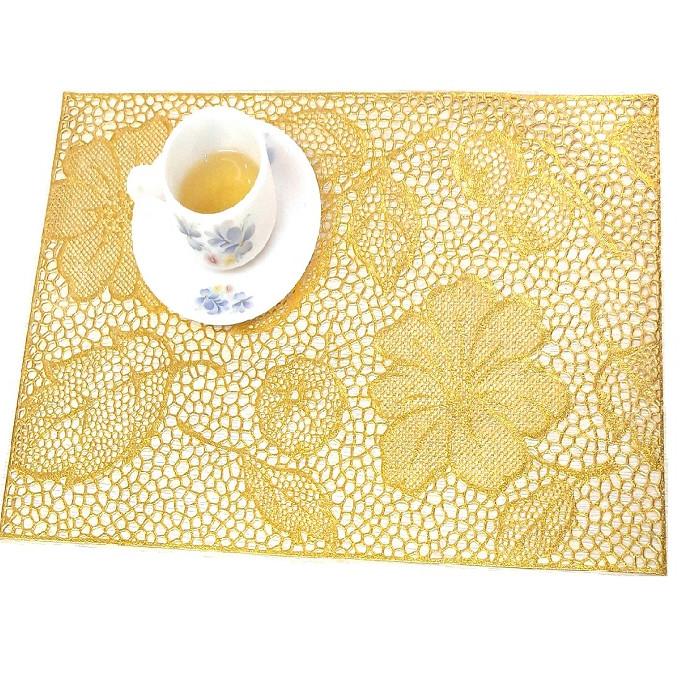 Miếng lót bàn ăn Paulee - FY 311 nhũ vàng (45 x 30 cm)