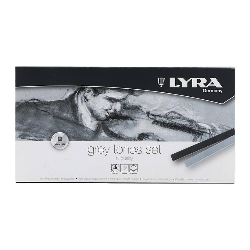 Hộp Bút Sáp Màu Lyra Grey Tones (12 Màu)
