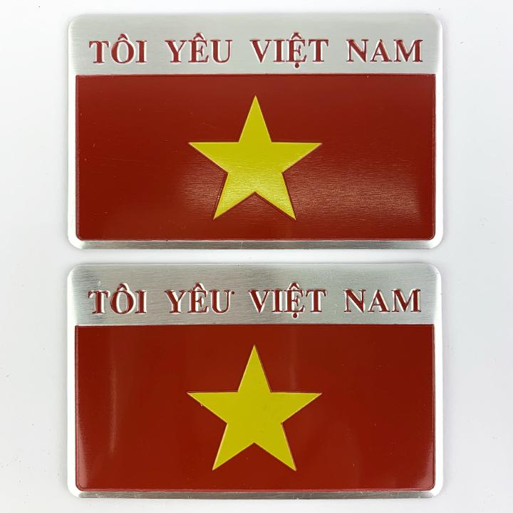 Bộ 2 Sticker kim loại hình cờ Tôi Yêu Việt Nam dán trang trí ô tô, xe máy (5cm x 8cm) - 1831880 , 2376435408444 , 62_13672129 , 100000 , Bo-2-Sticker-kim-loai-hinh-co-Toi-Yeu-Viet-Nam-dan-trang-tri-o-to-xe-may-5cm-x-8cm-62_13672129 , tiki.vn , Bộ 2 Sticker kim loại hình cờ Tôi Yêu Việt Nam dán trang trí ô tô, xe máy (5cm x 8cm)