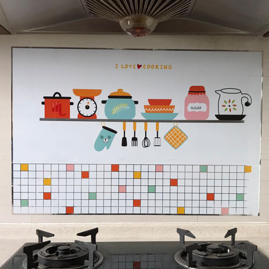 Jinghuisi Chuang JH0387 thick kitchen stickers high temperature kitchen oil stickers more than a year