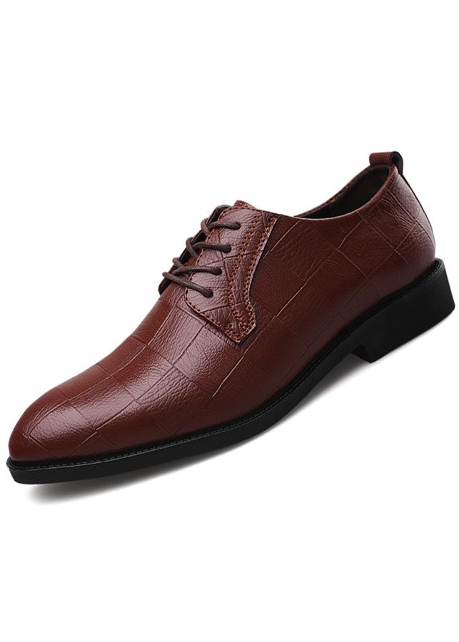 Giày tây nam thiết kế caro độc đáo mới lạ 00601