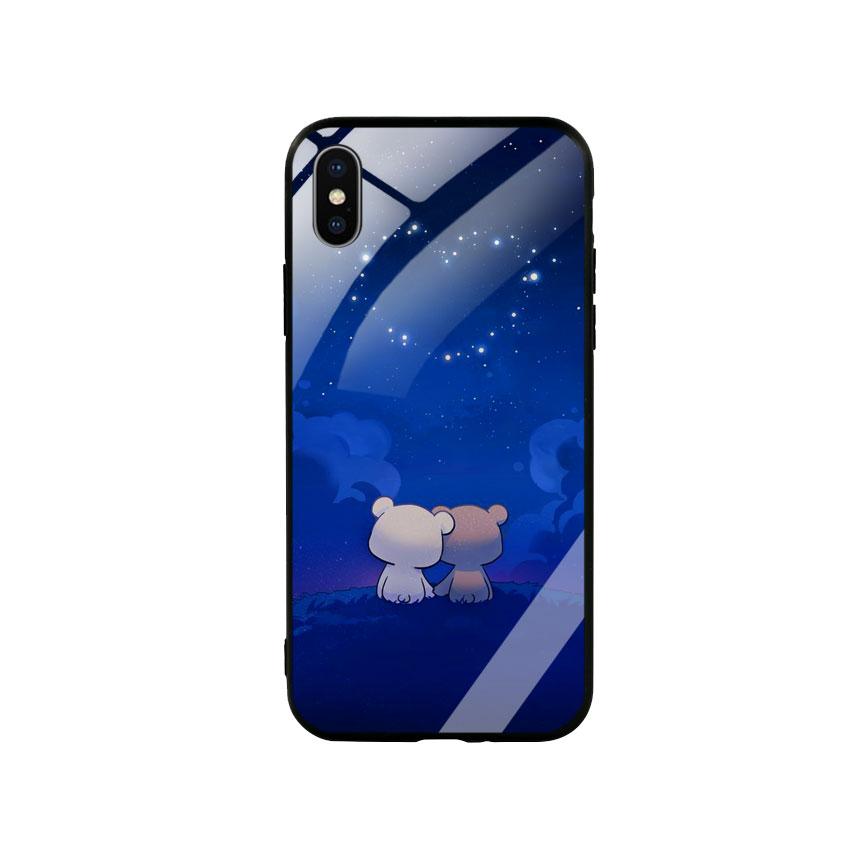 Ốp Lưng Kính Cường Lực cho điện thoại Iphone X / Xs - Cute 10