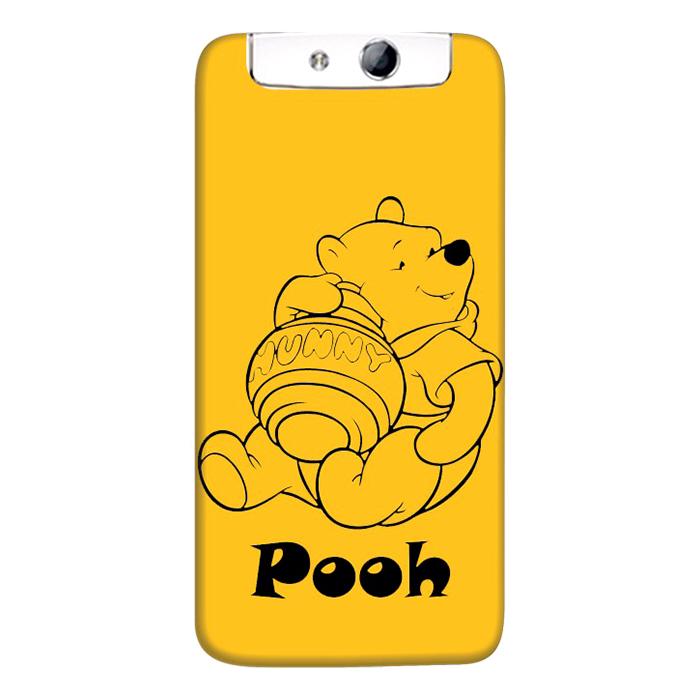 Ốp Lưng Nhựa Cứng Nhám Dành Cho Oppo N1 In Hình Pooh