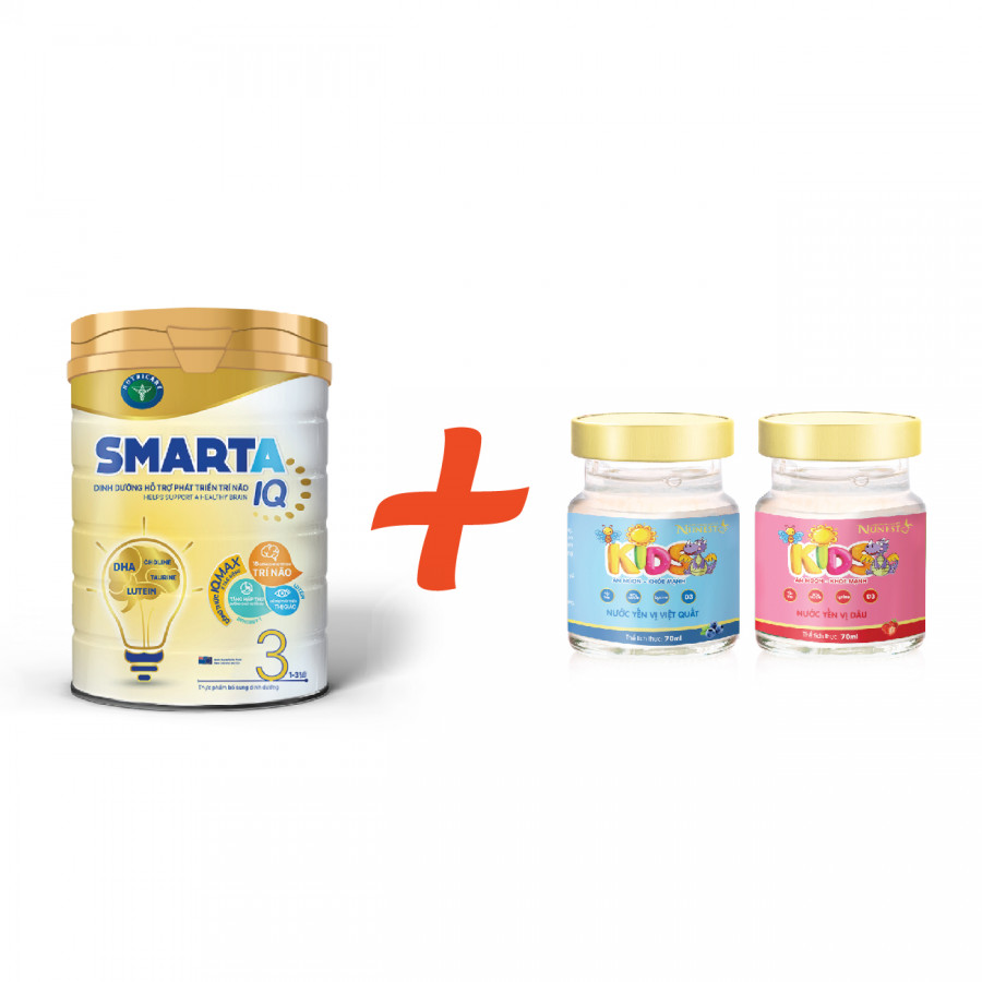 Sữa bột Smarta IQ 3 hoặc 4 (900g) - Tặng 02 lọ yến sào Nunest Kids - 2324893 , 2187534054704 , 62_14991182 , 319000 , Sua-bot-Smarta-IQ-3-hoac-4-900g-Tang-02-lo-yen-sao-Nunest-Kids-62_14991182 , tiki.vn , Sữa bột Smarta IQ 3 hoặc 4 (900g) - Tặng 02 lọ yến sào Nunest Kids