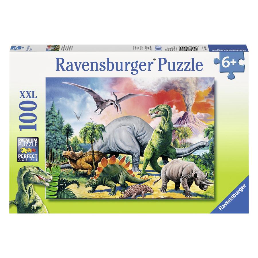RV10957 9 Xếp Hình Puzzle Among The Dinosaurs 100 Mảnh Ravensburger