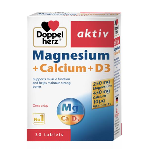 Thực Phẩm Chức Năng Viên Bổ Xương Khớp của Đức DoppelHerz Magnesium Calcium D3 (30 viên) - 1095951 , 7294622594518 , 62_3881741 , 295000 , Thuc-Pham-Chuc-Nang-Vien-Bo-Xuong-Khop-cua-Duc-DoppelHerz-Magnesium-Calcium-D3-30-vien-62_3881741 , tiki.vn , Thực Phẩm Chức Năng Viên Bổ Xương Khớp của Đức DoppelHerz Magnesium Calcium D3 (30 viên)