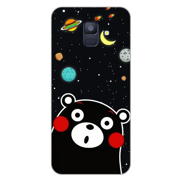 Ốp lưng dẻo Nettacase cho điện thoại Samsung Galaxy A6 2018_0345 BEAR03 - Hàng Chính Hãng