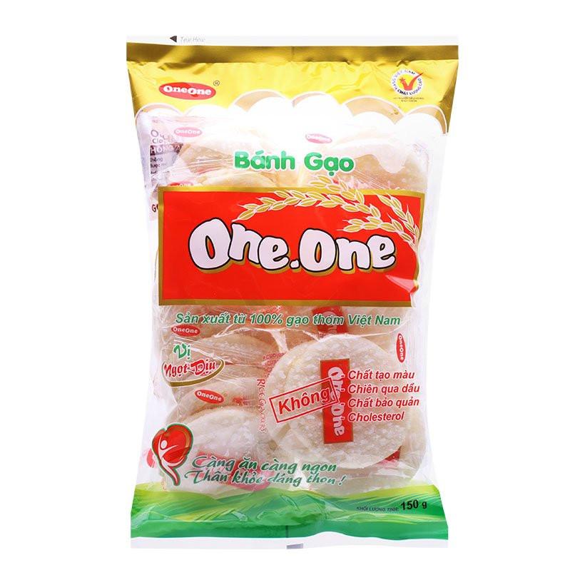 Bánh gạo vị ngọt dịu One-One gói 150g - 1199247 , 6532222878173 , 62_5021547 , 26000 , Banh-gao-vi-ngot-diu-One-One-goi-150g-62_5021547 , tiki.vn , Bánh gạo vị ngọt dịu One-One gói 150g