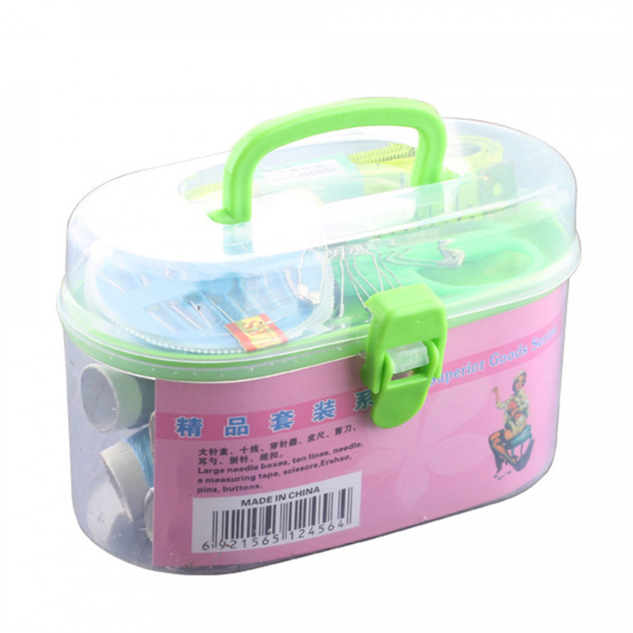 Sewing Box Sewing Kit Convenient Plastic Repair Kit Travel Kit