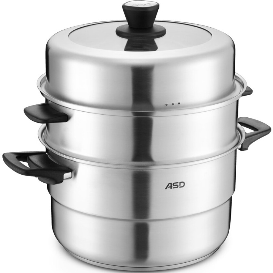 ASD 30CM double bottom stainless steel steamer QN1530 can be used as a three-layer double-layer steamer with steamer steamer induction cooker... - 1622181 , 6721360071748 , 62_9117106 , 1298000 , ASD-30CM-double-bottom-stainless-steel-steamer-QN1530-can-be-used-as-a-three-layer-double-layer-steamer-with-steamer-steamer-induction-cooker...-62_9117106 , tiki.vn , ASD 30CM double bottom stainless