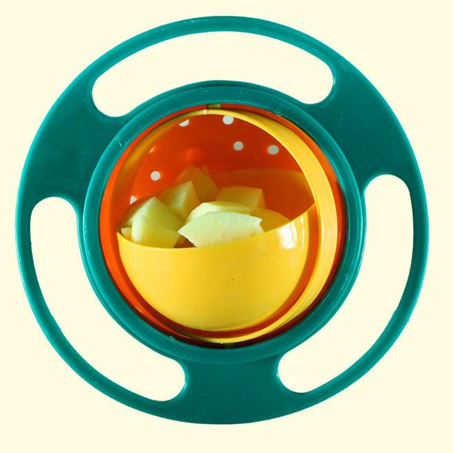 Tô + Nắp Xoay 360 Độ Chống Đổ Thức Ăn Cho Trẻ