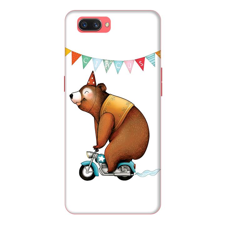 Ốp lưng điện thoại Realme C1 hình Chú Gấu Đạp Xe