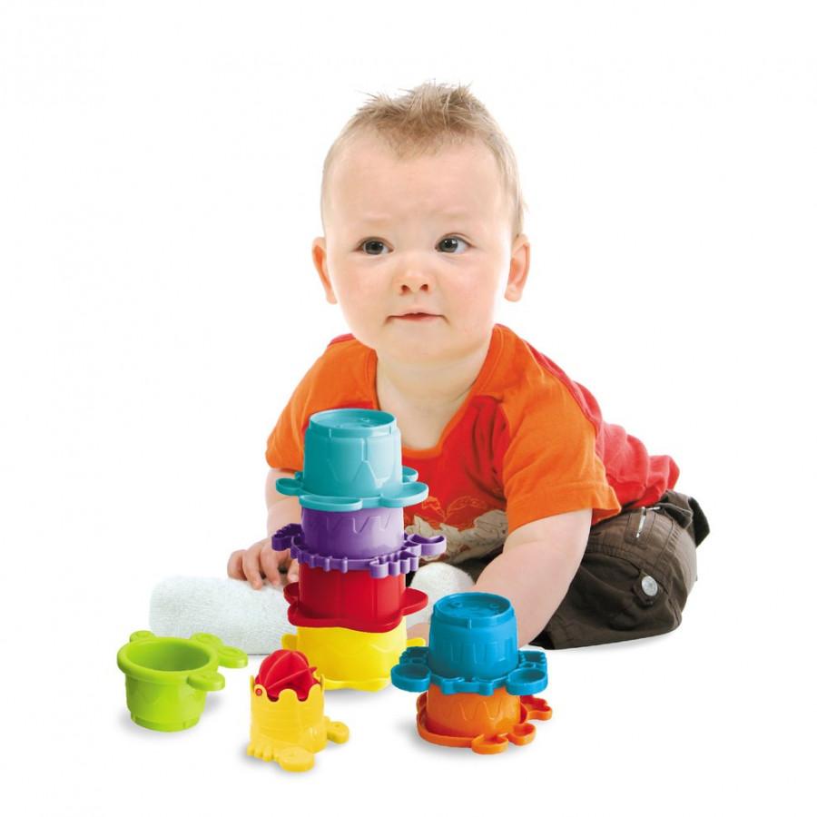 Đồ Chơi Trẻ Em, Tháp Xếp Chồng Nhận Diện Màu Sắc Infantino -Tặng Thước đo Chiều Cao Và Thị Lực
