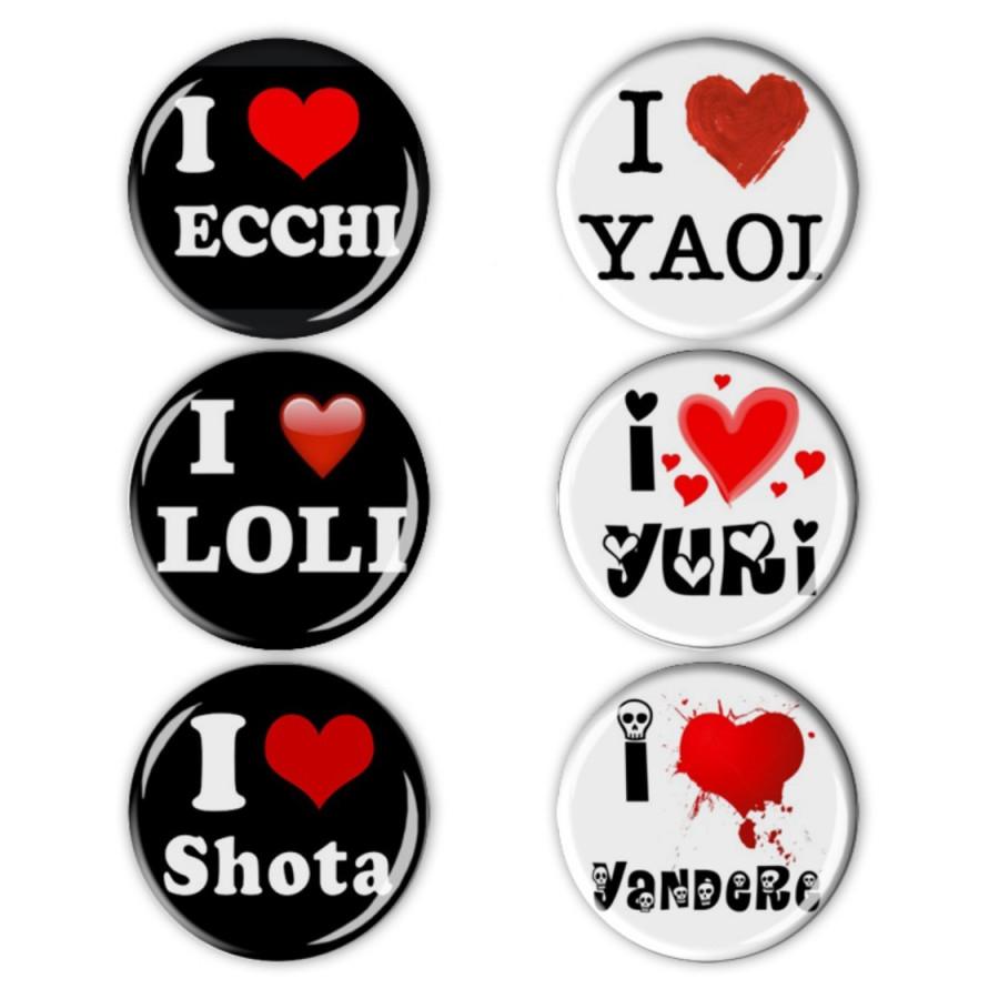 Set 6 Huy hiệu Logo Anime / Hentai, Ecchi, Yaoi, Yuri, Loli, Shota, Yandere,... - 8061638 , 1326356594925 , 62_15860582 , 60000 , Set-6-Huy-hieu-Logo-Anime--Hentai-Ecchi-Yaoi-Yuri-Loli-Shota-Yandere...-62_15860582 , tiki.vn , Set 6 Huy hiệu Logo Anime / Hentai, Ecchi, Yaoi, Yuri, Loli, Shota, Yandere,...