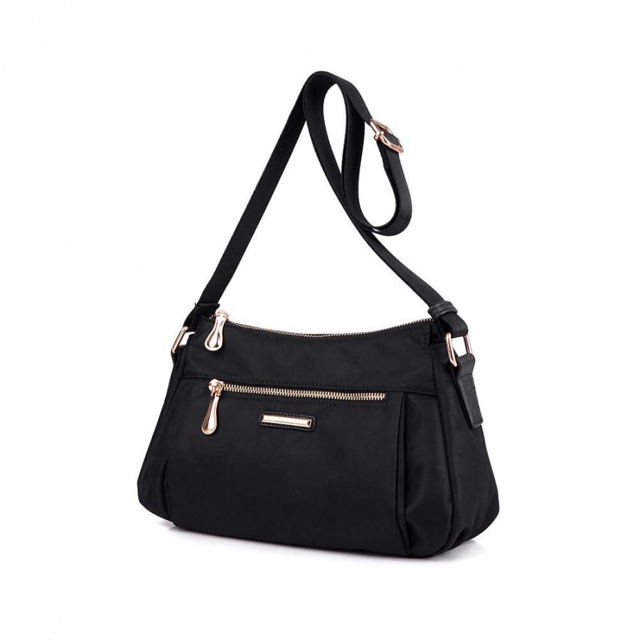 Women Nylon Oxford Crossbody Shoulder Bag Adjustable Shoulder Strap Waterproof Durable Travel Bag