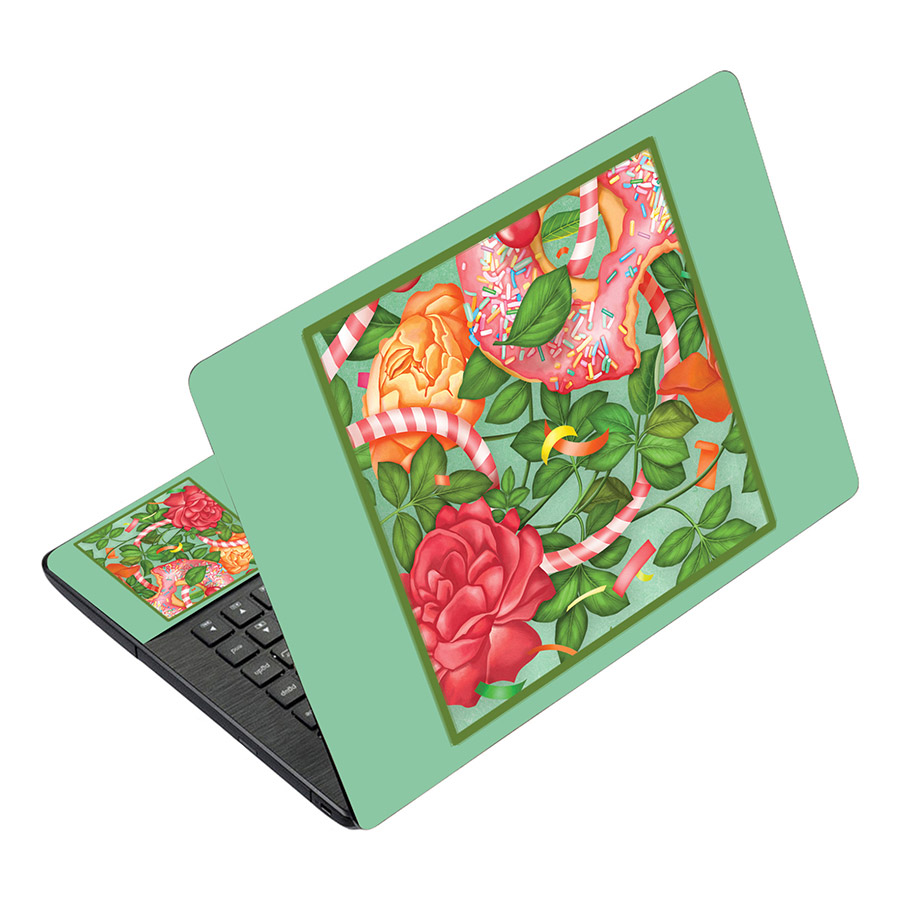Miếng Dán Decal Dành Cho Laptop Mẫu Nghệ Thuật LTNT-489