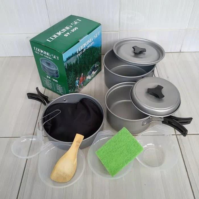 Bộ nồi, chảo cắm trại dã ngoại Cooking Set SY 300 - 9494173 , 2730674615443 , 62_17950919 , 600000 , Bo-noi-chao-cam-trai-da-ngoai-Cooking-Set-SY-300-62_17950919 , tiki.vn , Bộ nồi, chảo cắm trại dã ngoại Cooking Set SY 300
