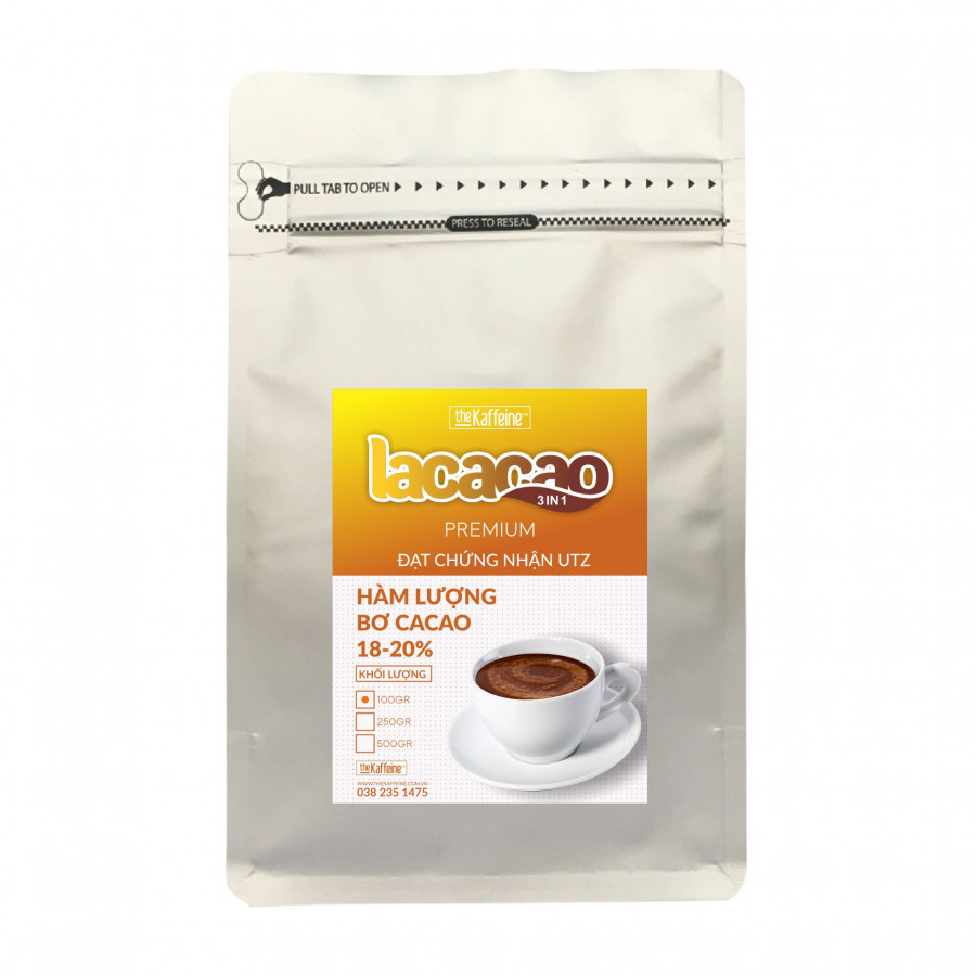 Cacao sữa 3in1 Lacacao 100g