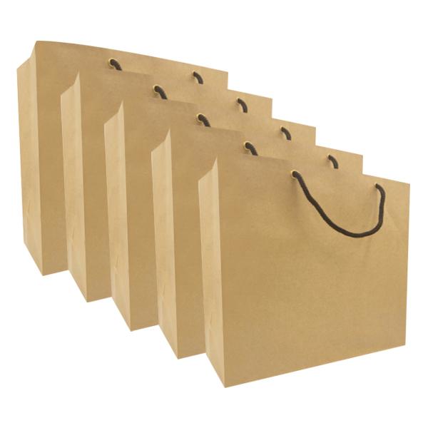 Combo 5 Túi Giấy Kraft Trơn Vinanetco KT08 (26 x 30 x 12 cm)