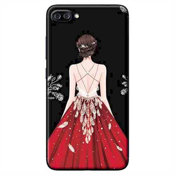 Ốp Lưng Dành Cho Asus Zenfone 4 Max Pro ZC554KL - Cô Gái Váy Đỏ Nền Đen