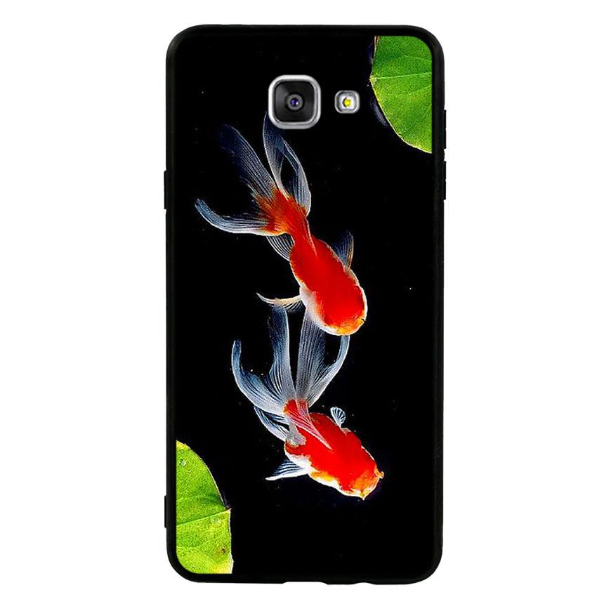 Ốp lưng nhựa cứng viền dẻo TPU cho điện thoại Samsung Galaxy A9 - Cá Koi 03