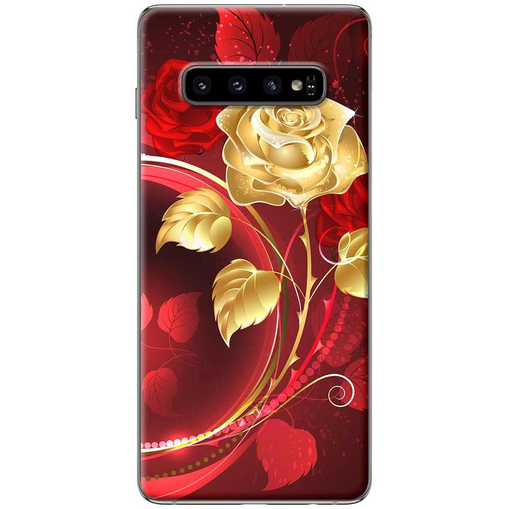 Ốp lưng  dành cho Samsung Galaxy S10 mẫu Bình hoa hồng