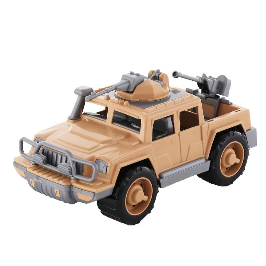 Xe Jeep quân đội hộ tống đoàn trang bị súng máy đồ chơi - Polesie Toys