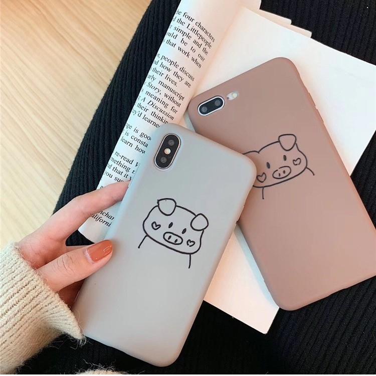 Ốp Pastel Lợn 2 Má Trái Tim Dành Cho Iphone