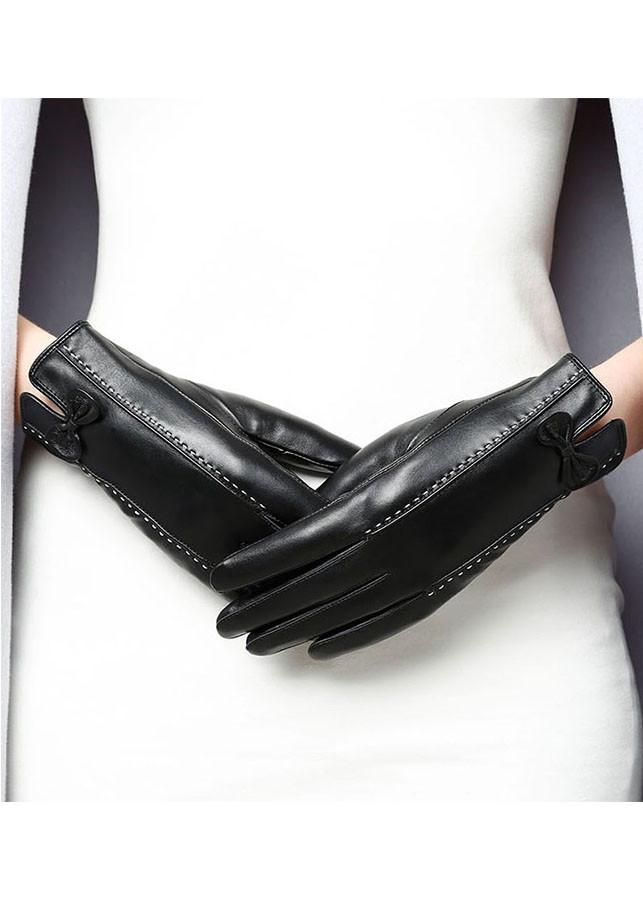 Găng tay nữ da cừu cao cấp BH6735