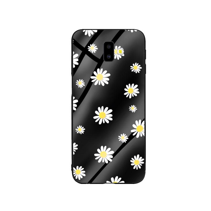 Ốp Lưng Kính Cường Lực cho điện thoại Samsung Galaxy J6 Plus - Cúc Họa Mi 01 - Hàng Chính Hãng