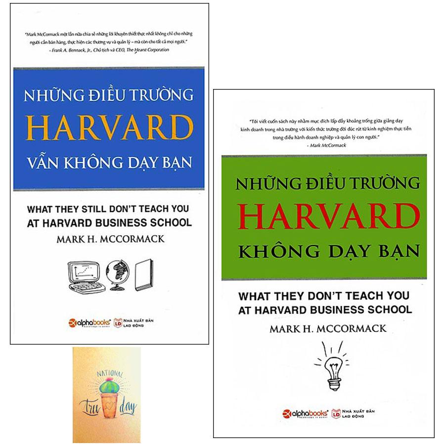 Combo Những Điều Trường Harvard Không Dạy Bạn và Những Điều Trường Harvard Vẫn Không Dạy Bạn ( Tặng Kèm Sổ Tay)